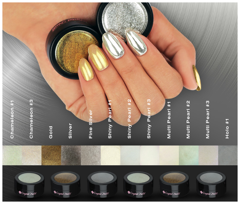 Crystal Nails ChroMirror Chrome Pigment Powders | Crystal Nails USA East