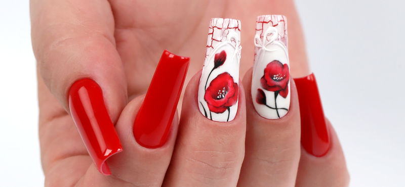 Simple poppies step by step