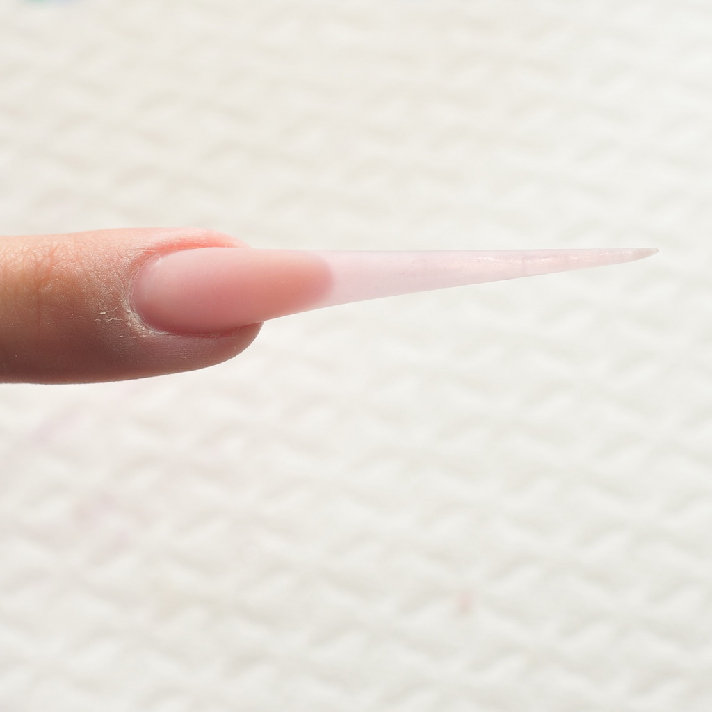 Create the base of the nail with Cover Pink and Clear Powder