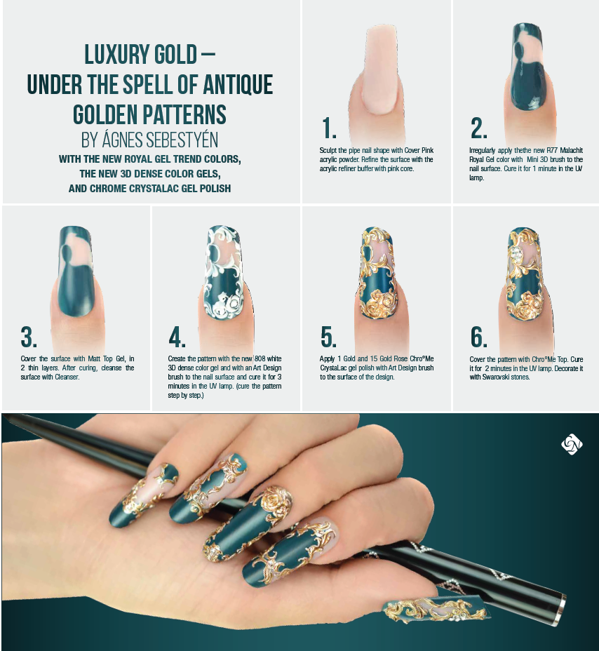 Luxury Gold Baroque Nails