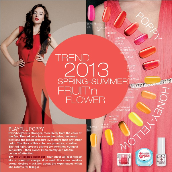 The trendiest colors of the 2013  summer season
