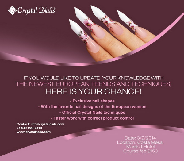 ADVANCED CRYSTAL NAILS SEMINAR 3/9/2014