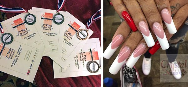 Crystal Nails' Guin Deadman-Littlefield Takes Home Five Medals at the First Ever Nailympia USA!