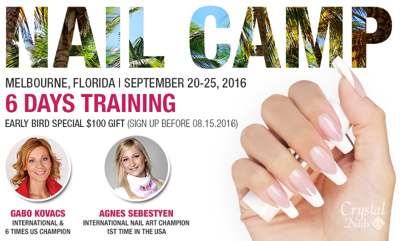 Crystal Nails Nail Camp! Reserve your spot!