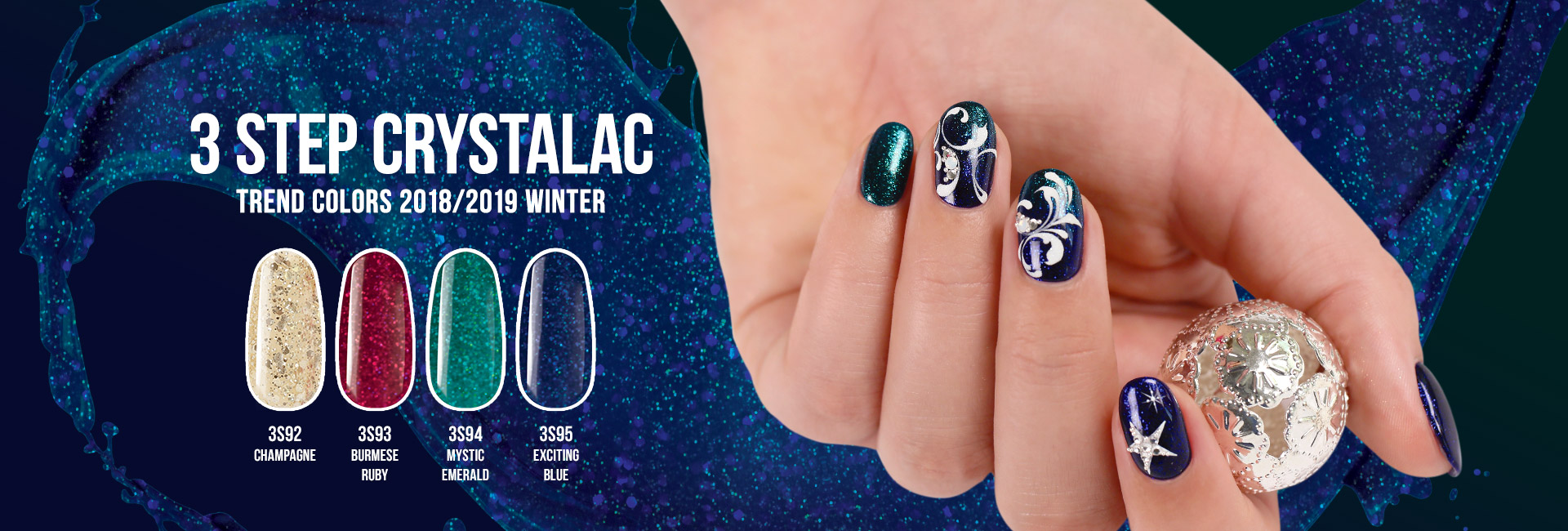 3 Step CrystaLac Trend Colors Winter 2018