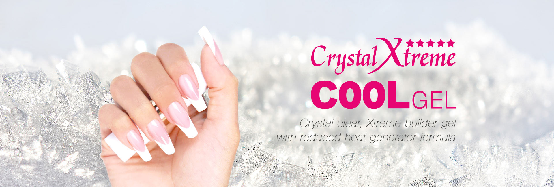 Crystal Xtreme COOL gel - Crystal clear, Xtreme builder gel with reduced heat generator formula